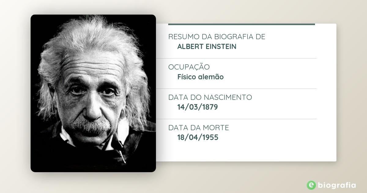 Biografia De Albert Einstein Ebiografia