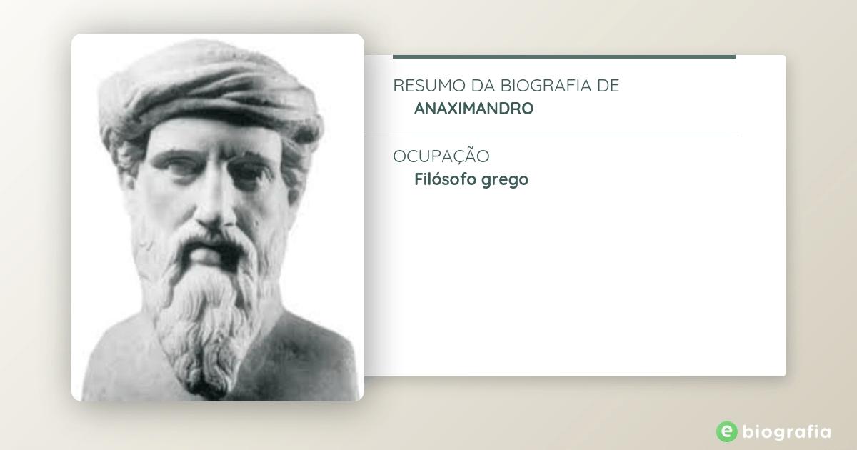 Biografia De Anaximandro Ebiografia