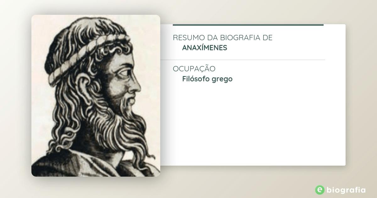 Biografia De Anaxímenes Ebiografia