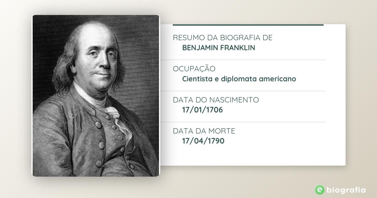 Biografia De Benjamin Franklin Ebiografia