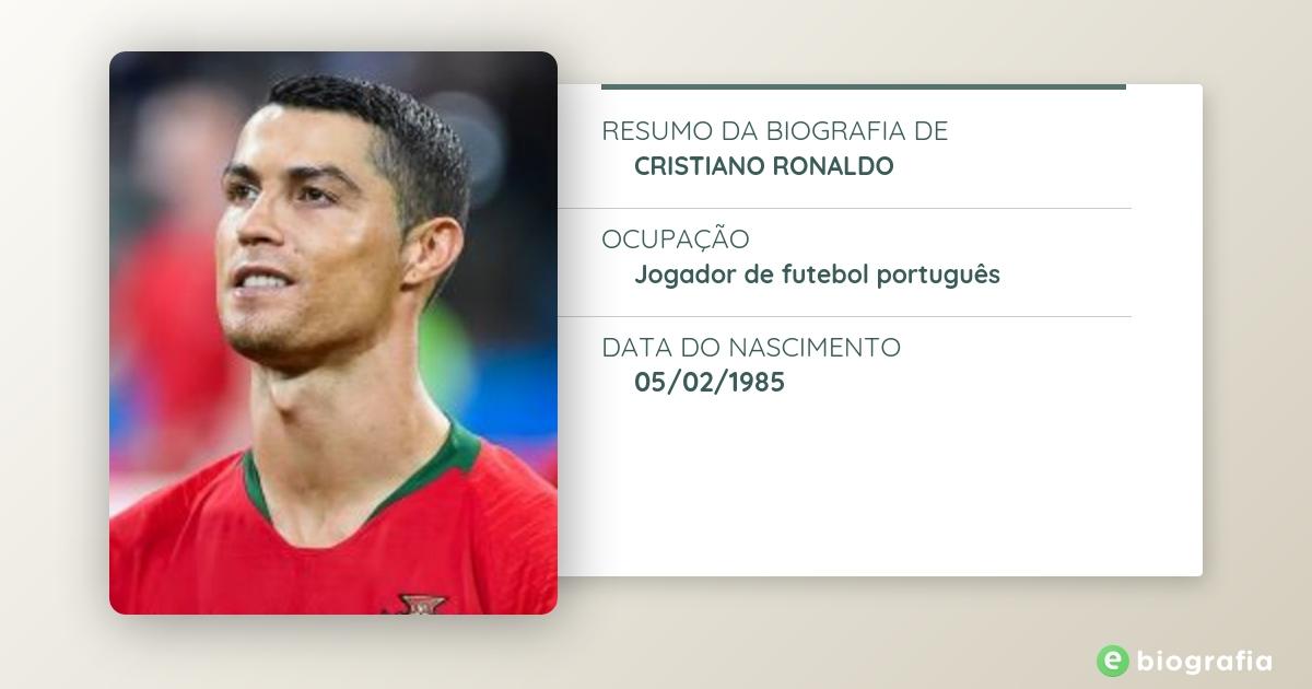 Biografia De Cristiano Ronaldo Ebiografia