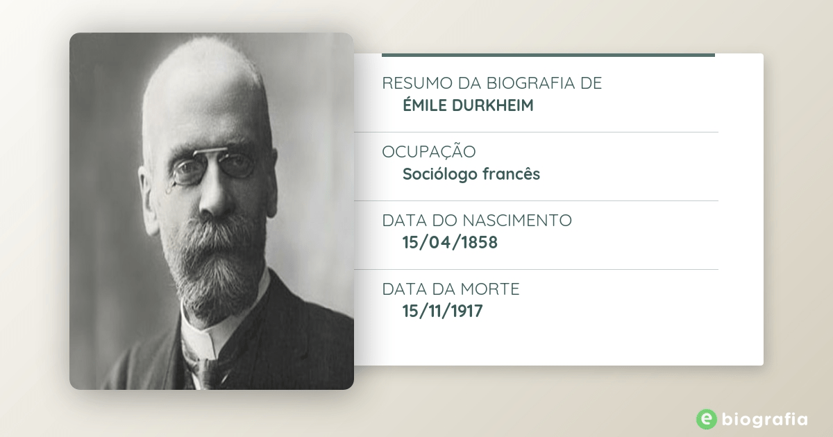 emile durkheim Emile durkheim was a french 19th century sociologist who focused on what modern capitalism does to our minds - and concluded that it might, quite literally,.