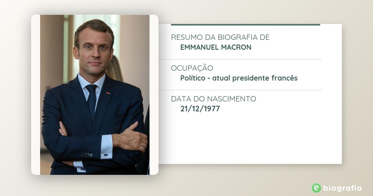 Biografia De Emmanuel Macron Ebiografia