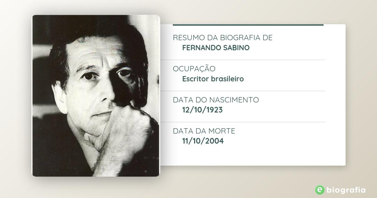 Biografia De Fernando Sabino Ebiografia
