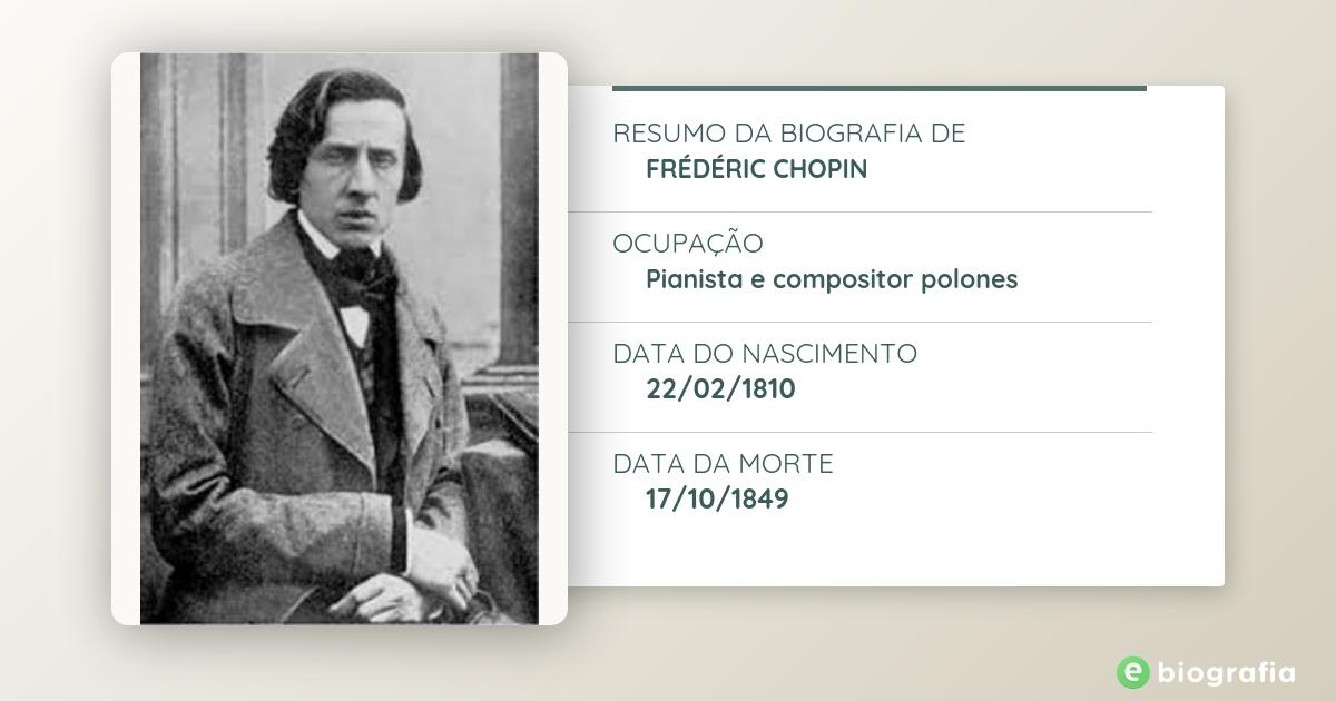 Biografia de Frédéric Chopin - eBiografia