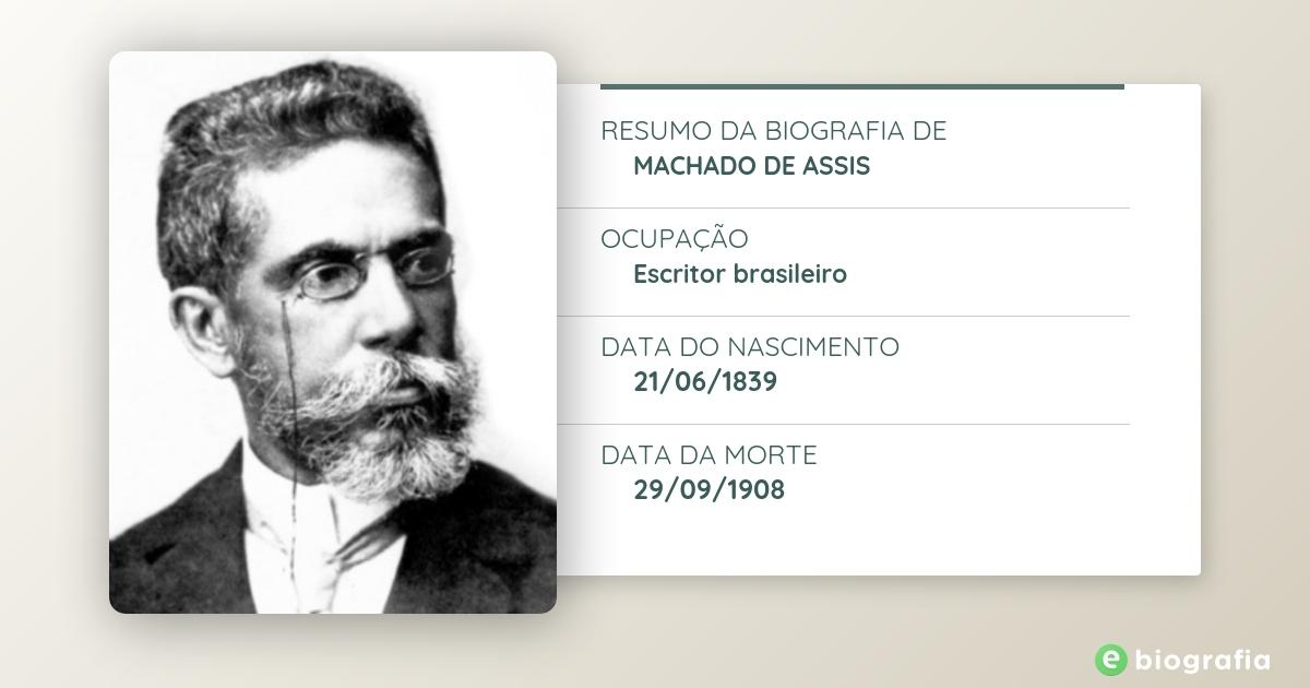 Biografia De Machado De Assis Ebiografia