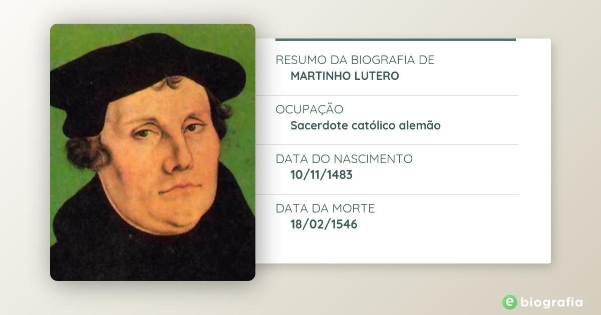 Biografia De Martinho Lutero Ebiografia