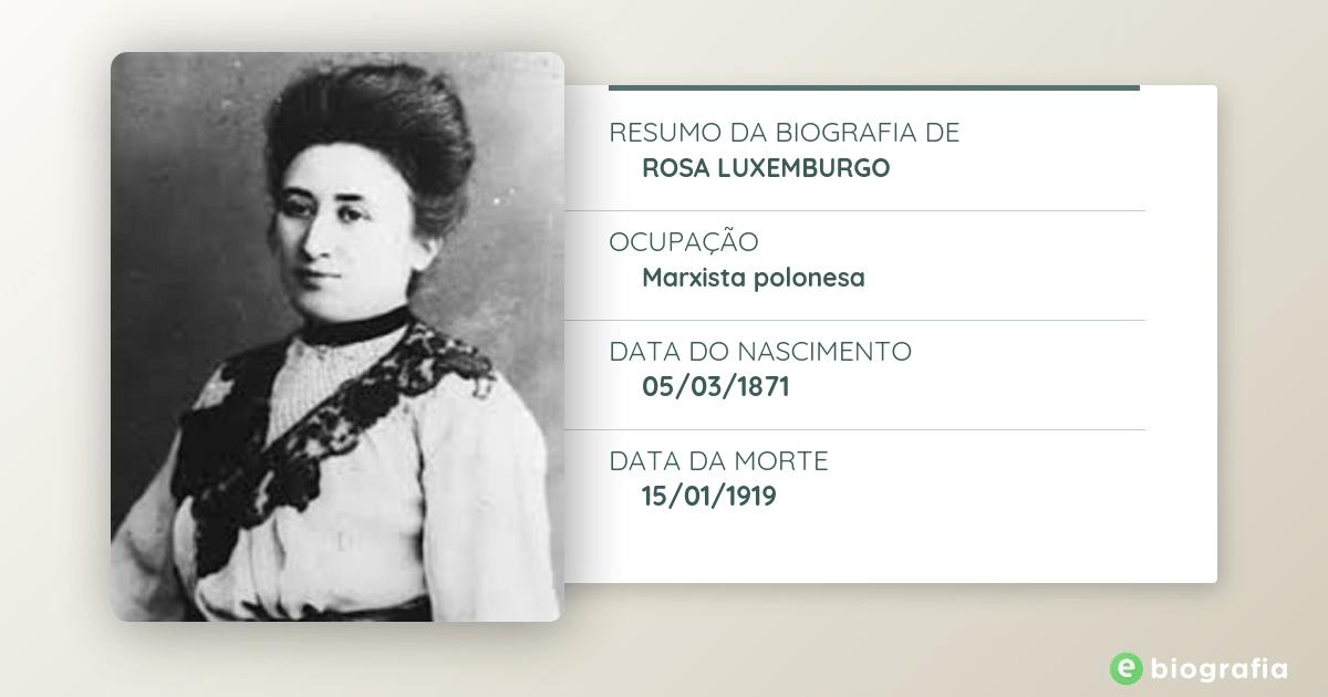 Biografia De Rosa Luxemburgo Ebiografia