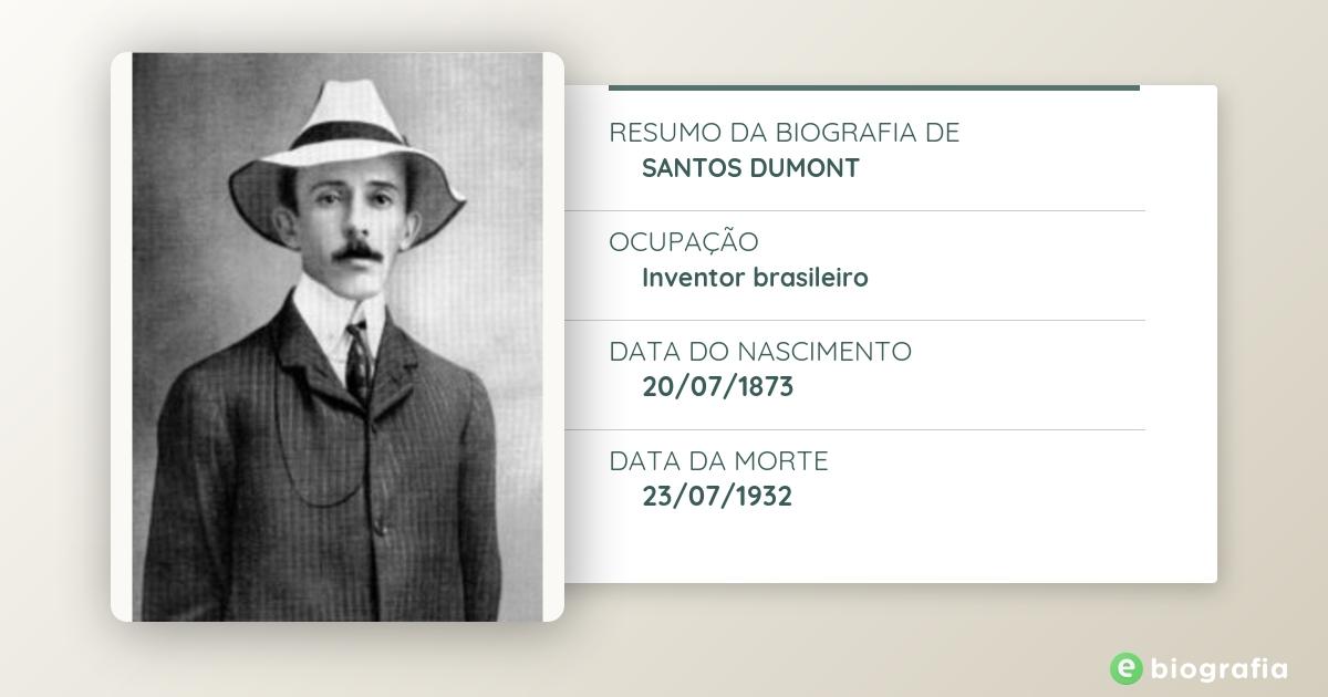 cfcc36cae8c Biografia de Santos Dumont - eBiografia