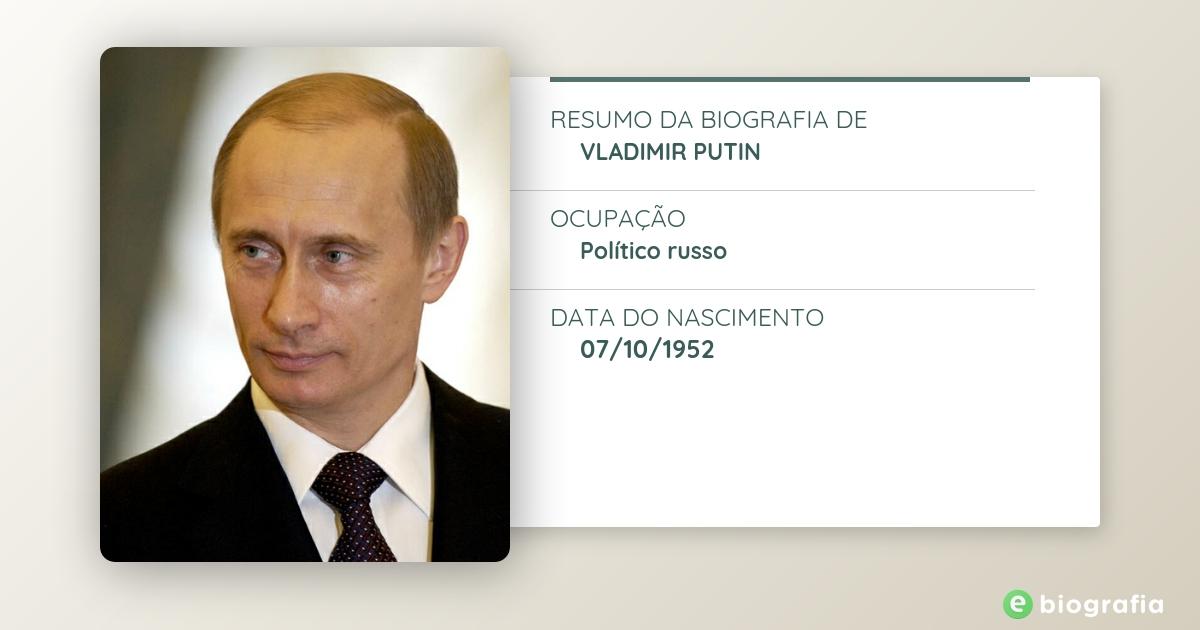 Biografia De Vladimir Putin Ebiografia