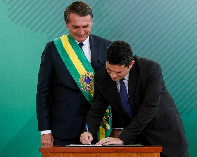 Sérgio Moro toma posse como Ministro da Justiça de Jair Bolsonaro