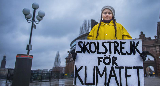 Greve escolar pelo clima
