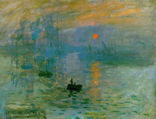 Quadro Impressão, nascer do sol (1872)