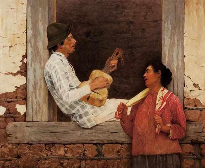 tela O violeiro, de Almeida Junior