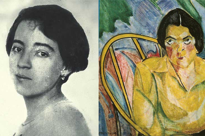 Anita Malfatti e o quadro A boba.
