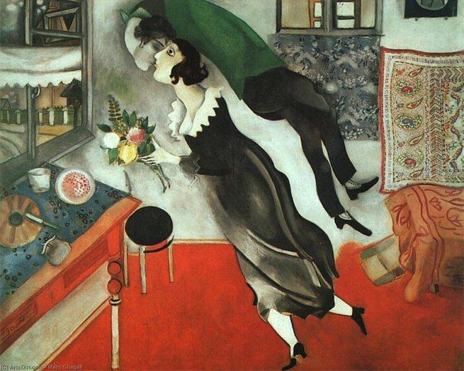 Aniversário, de Marc Chagall (1887-1985)