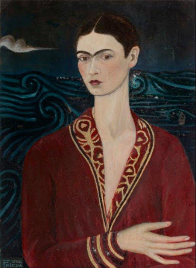 Autorretrato com Vestido de Veludo, 1926