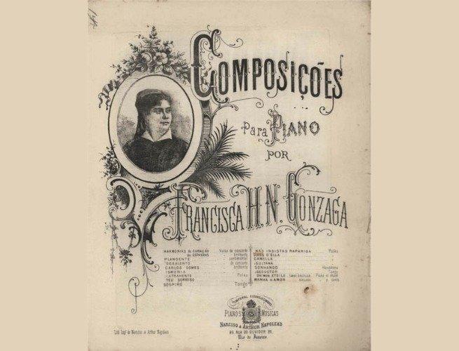 Capa de um livro de partituras de Chiquinha Gonzaga
