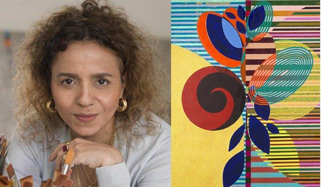 Beatriz Milhazes e o quadro Folha de figo