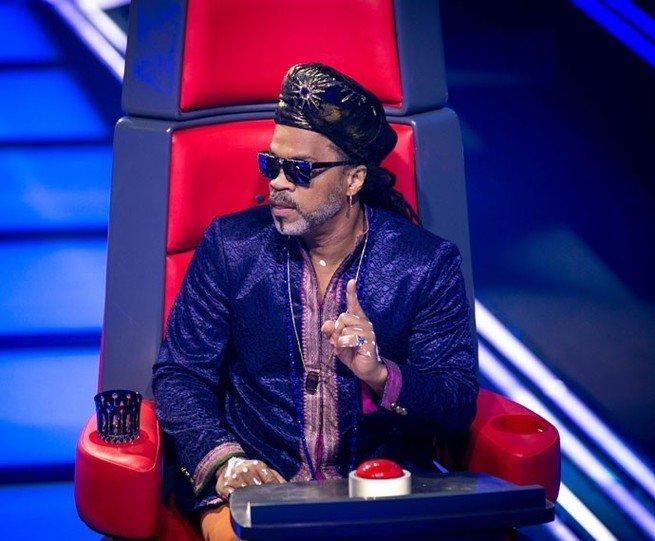 Carlinhos Brown na cadeira do The Voice Brasil