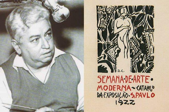 Di Cavalcanti foi o autor da capa do catálogo da Semana de Arte Moderna.