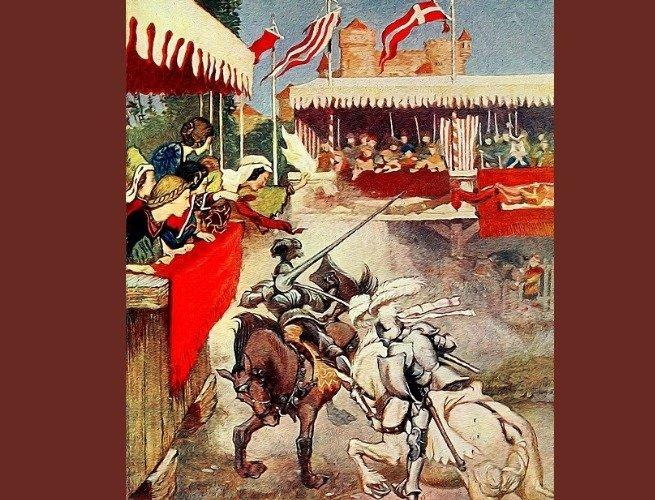 Ilustração de Arthur Rackham retirada do livro Histórias do Rei Arthur (1905)
