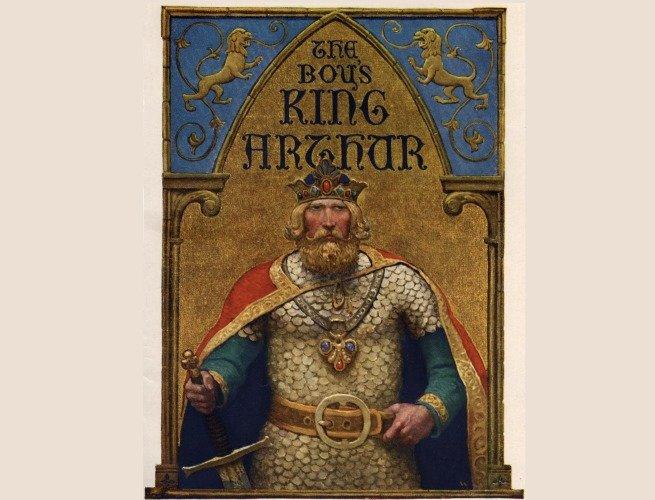 Ilustração de Newell Convers Wyeth retirada do livro The Boys King Arthur (1880)