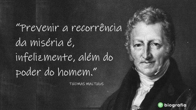 Frase de Thomas Malthus