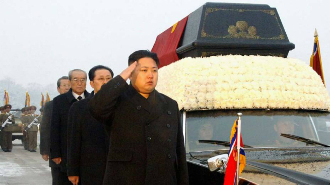 Kim Jong-un no funeral do pai