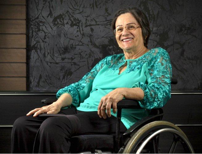 Maria da Penha ficou paraplégica depois de ter levado um tiro nas costas enquanto dormia