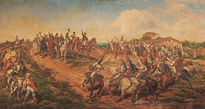 Pintura de Pedro Américo retratando a independência do Brasil