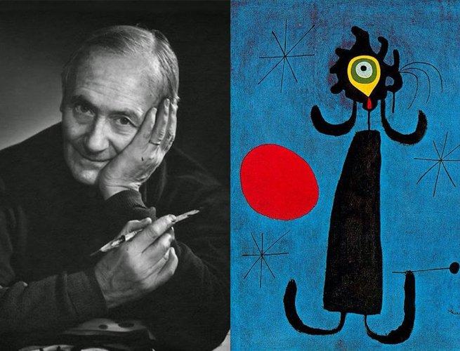 Joan Miro? e a obra Mulher na Frente do Sol