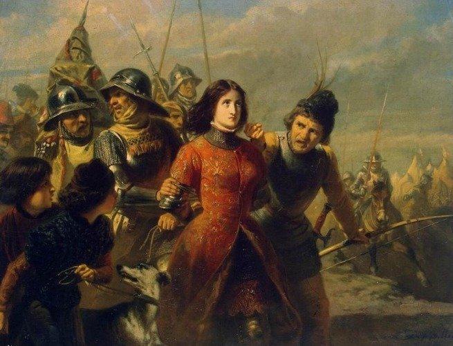 Captura de Joana d'Arc, por Adolphe Alexandre Dillens(1847)