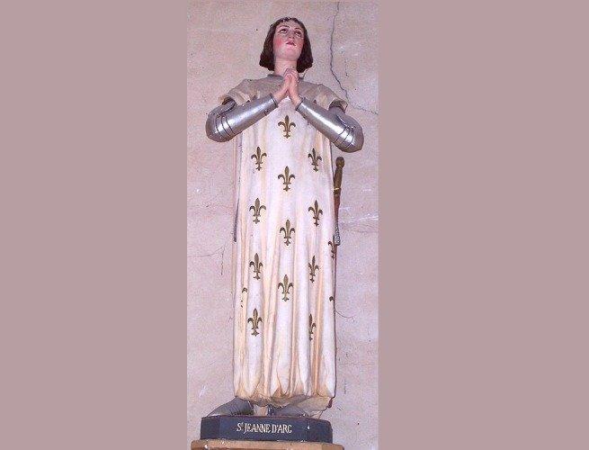 Imagem da santa Joana d'Arc