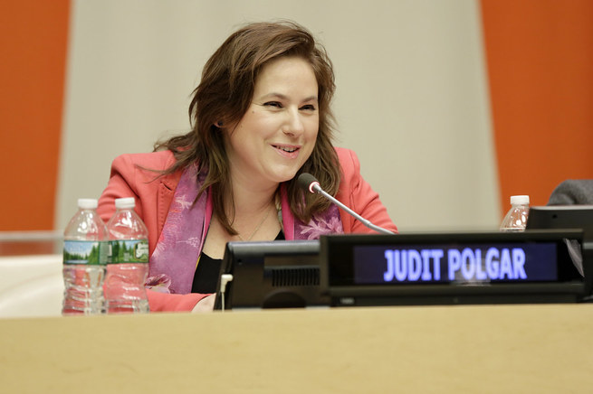 retrato de Judit Polgar
