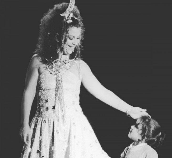 Beth Carvalho e a sua única filha, Luana.