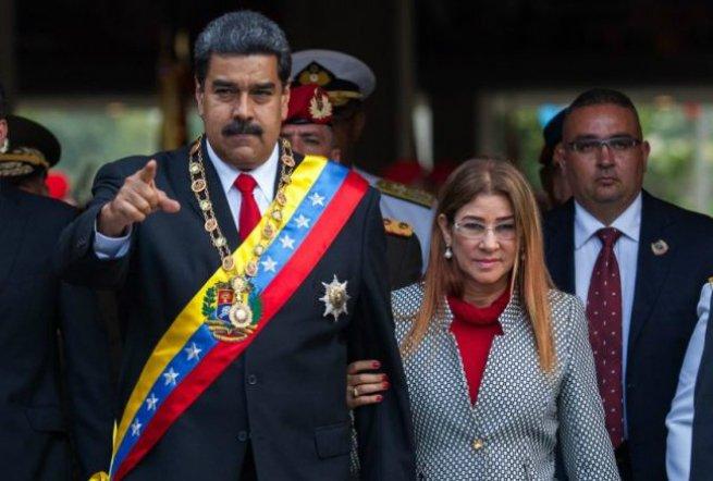 Maduro e a mulher Cilia Flores.