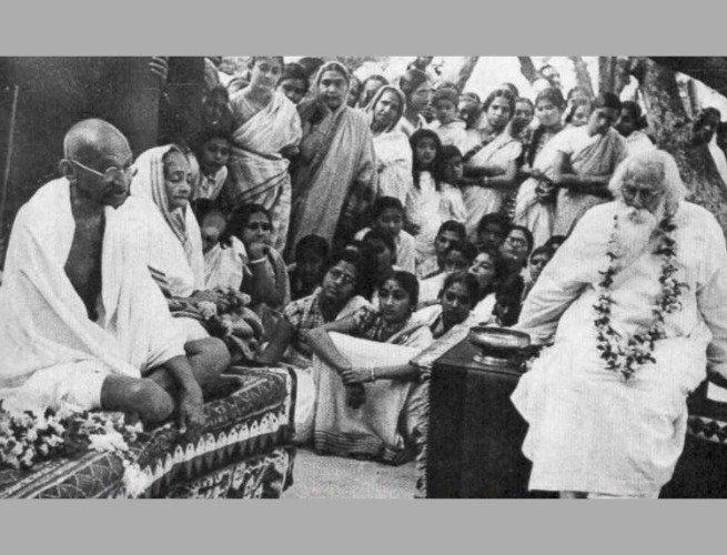 Gandhi e Tagore