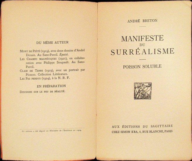 Manifesto surrealista, de André Breton (1896-1966)