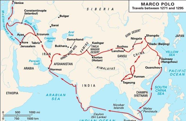 mapa viagem marco polo