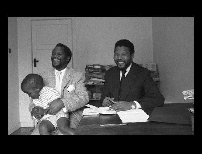 Mandela e seu amigo Oliver Tambo