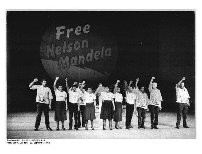 Campanha 'Liberte Mandela' em Berlim, Alemanha (1986)