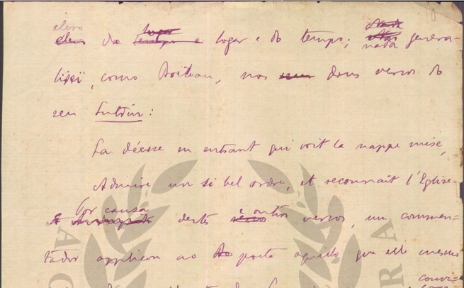 Manuscrito de Machado de Assis