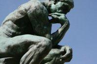 O pensador, escultura de Rodin