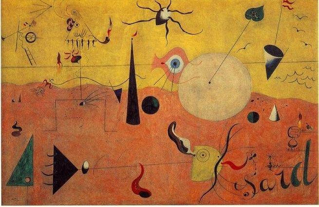 Paisagem catalã, o caçador, de Joan Miró (1893-1983)