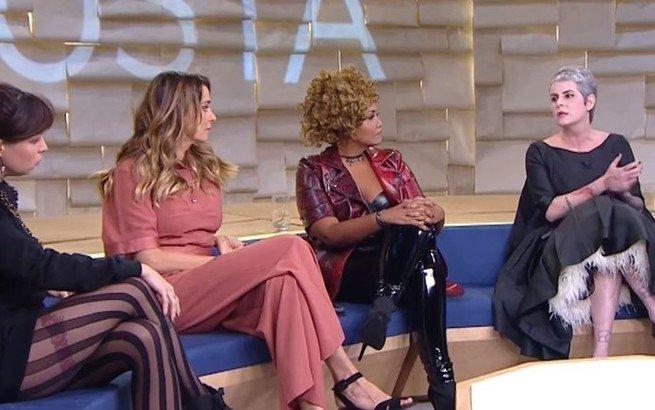 Fernanda Young foi apresentadora do Saia Justa