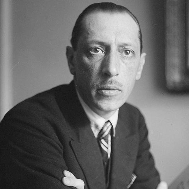 retrato de Igor Stravinsky