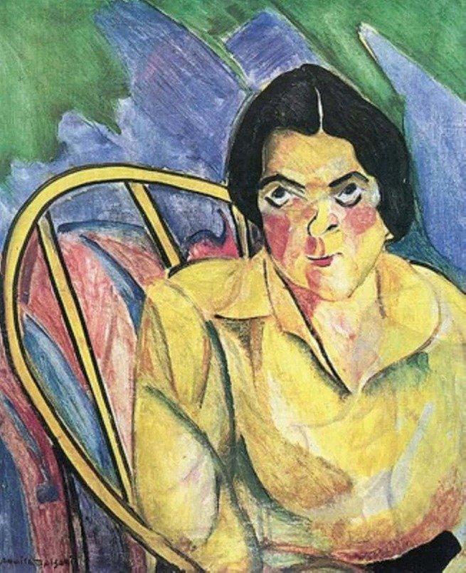 Tela expressionista A boba (1916), de Anita Malfatti