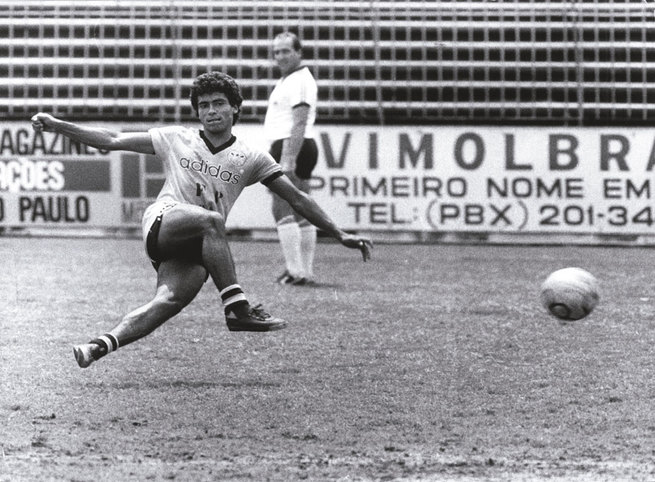 Romário atuando no Olaria Atlético Clube