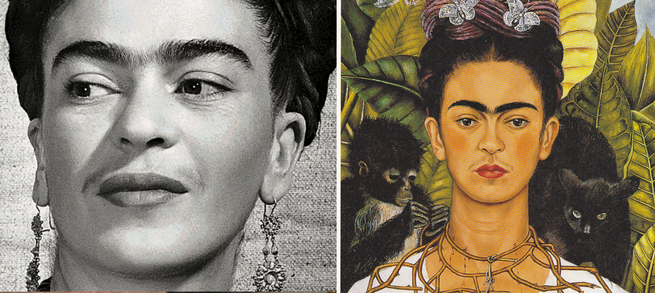 Frida Kahlo e o Autorretrato com Colar de Espinhos e Beija-flor.